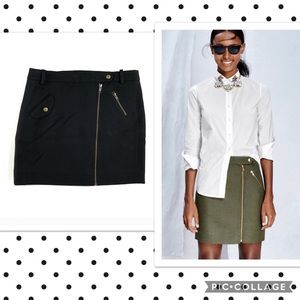 Like New! J. Crew Motorcycle Style Wool Mini Skirt